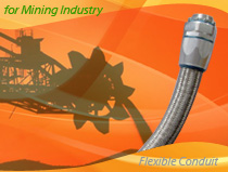 Heavy Series Over Braided Flexible Conduit and Conduit Connector For Mining and Metal Industry Wirings