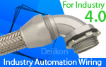 Delikon Heavy Series Over Braided Flexible Conduit and Fittings protect metal industry AUTOMATION Process control and power systems cables