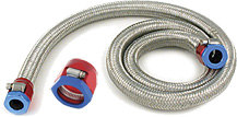 Single Layer Stainless Steel Braided Nitrile Rubber Hose is for use with Magna-Clamp Fittings