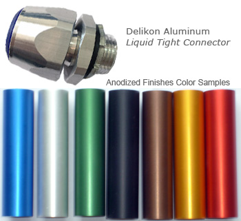 Delikon Anodized Aluminium Liquid Tight Connector